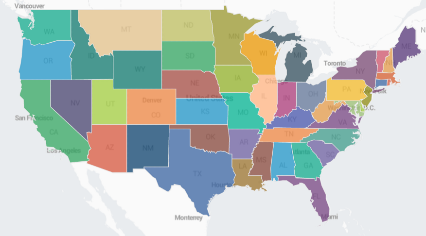 Configure A Choropleth Map Splunk Documentation - 3 color us map