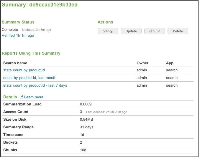 Manage report acceleration - Splunk Documentation