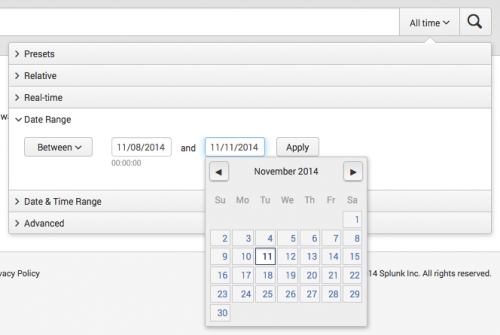 This image shows the calendar from which you can specify a date.