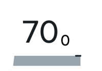 A single-value widget with the value 70 and a gray bar below it.
