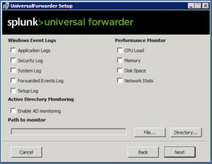 Install a Windows universal forwarder from an installer