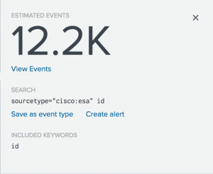 This image shows that there are 12.2 thousand events in the most common pattern.