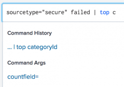 "This screen image shows the search ""sourcetype=""secure"" failed  