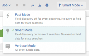 This screen image shows the search mode drop-down list.