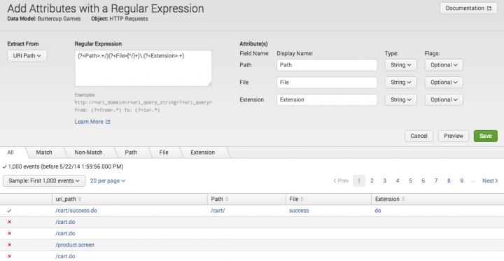 Add a regular expression field - Splunk Documentation