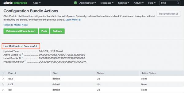 Update common peer configurations and apps - Splunk