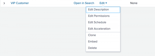 This screen image shows the list of options under the Edit drop-down menu.